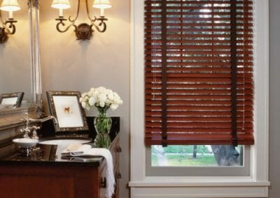 1 faux wood blinds