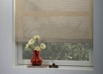 black vinyl window roller shades