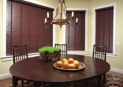 faux wooden blinds
