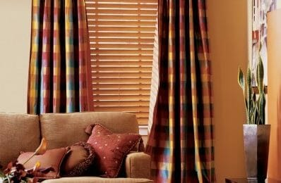 large wood window blinds