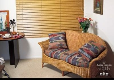 thick wooden window blinds