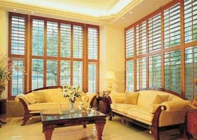 white window shutters