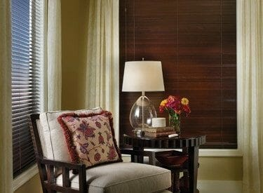 wide wooden blinds